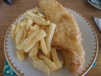 fish and chips at the end, the first i've had in months!