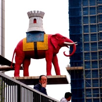 Elephant and Castle, complete with smoking man.