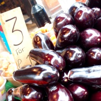 Shiny (and cheap) aubergines!