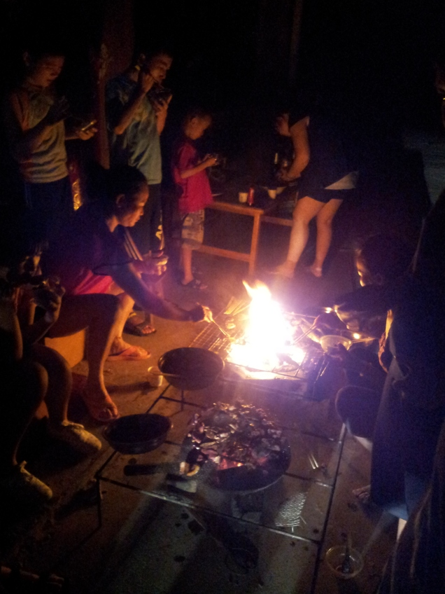 A festive BBQ celebration on our penultimate night, on Chinese Valentine's Day!
