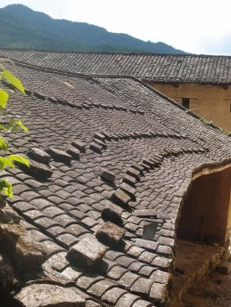 The houses served as effective defensive strongholds, with steps on the roofs so that kungfu warriors wouldn't slip off.