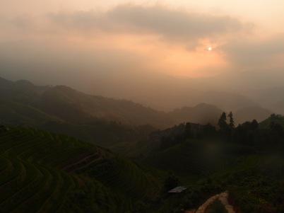 Sunrise from 龙胜梯田 (Longsheng Rice Terraces)