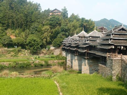Bridges built by the 侗族 (Dong minority) in 程阳 (Chengyang)