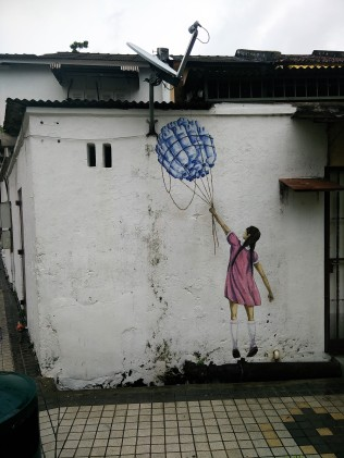 """Street art! By far my favourite and very reminiscent of """"Plastic China""""."""